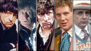 Several Doctor Who incarnations through the years.