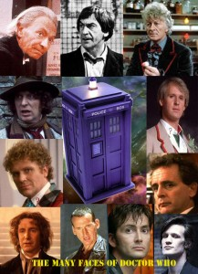 A collage of the different Doctor Who actors
