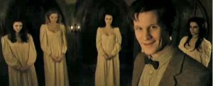 Doctor Who with the young vampires in Venice